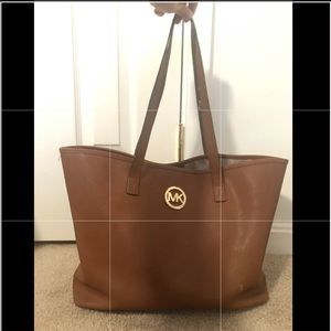 Michael Kors brown leather tote